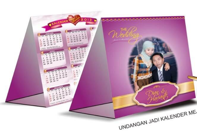 Undangan Pernikahan Dengan Bentuk Kalender