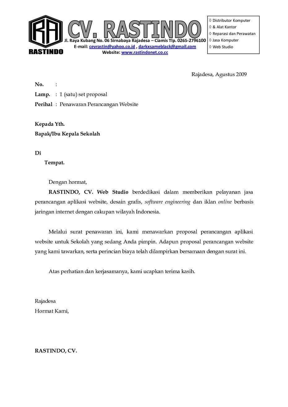 contoh surat penawaran kerjasama perusahaan