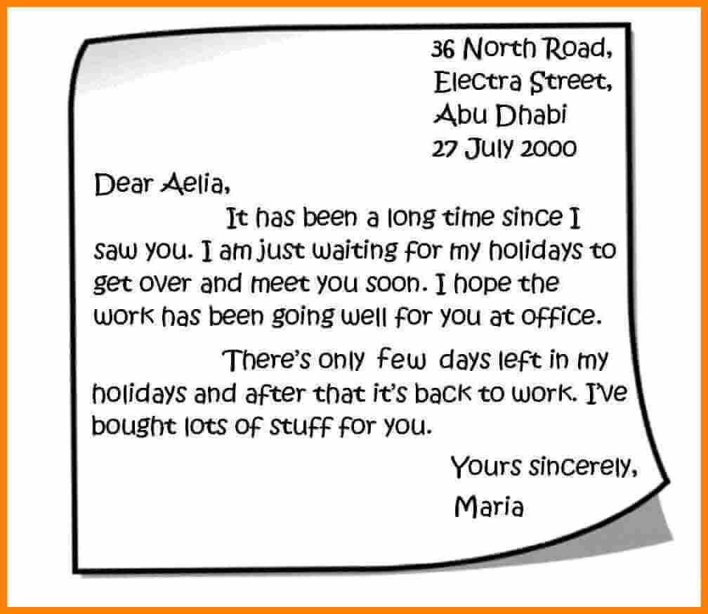 Contoh Personal Letter Singkat