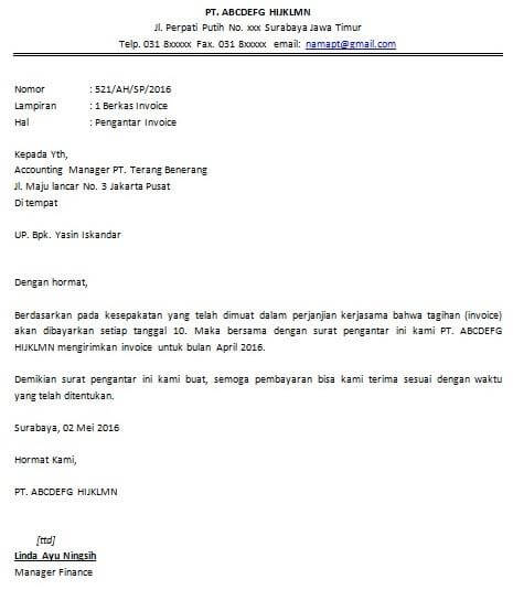 contoh surat pengantar dokumen
