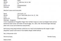 contoh surat kuasa pelimpahan wewenang