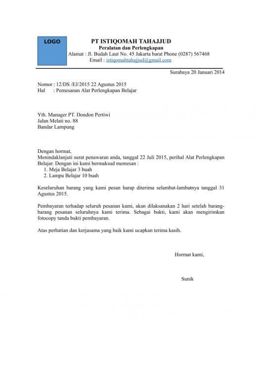 contoh surat penawaran kerjasama di bidang retail