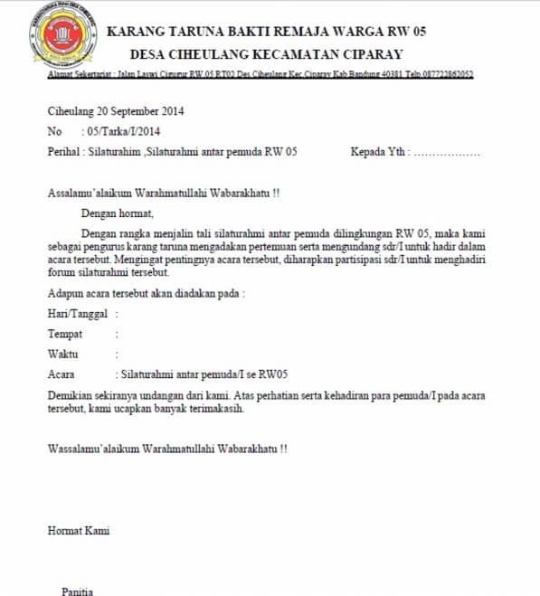 Contoh Undangan Musyawarah Desa - Guru Paud