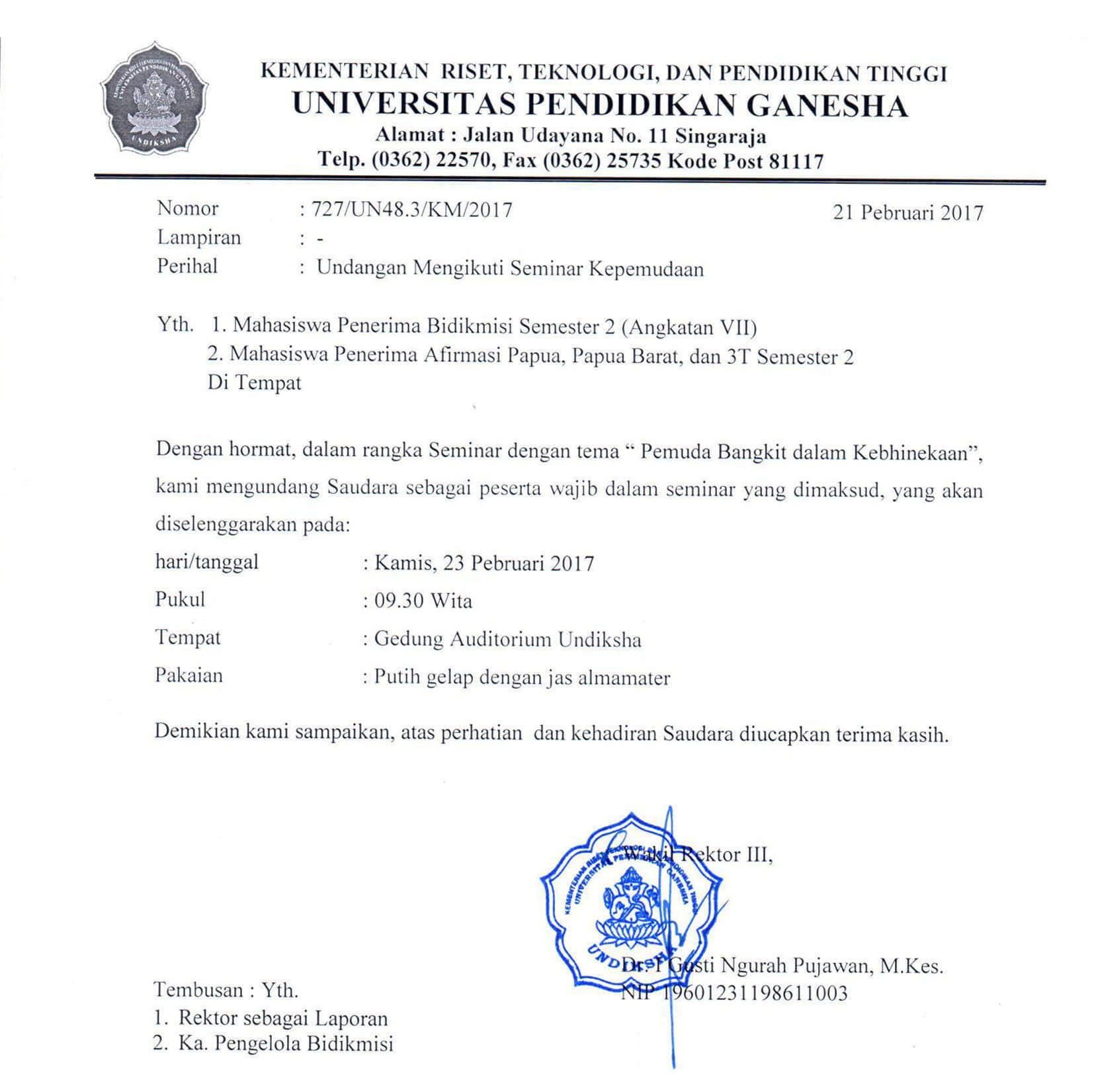 contoh surat undangan seminar