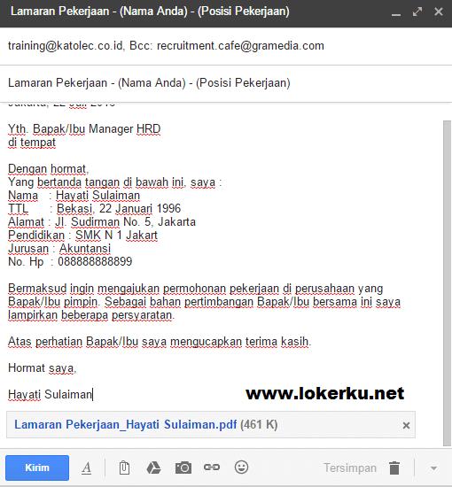 Cara Mengirim Lamaran Kerja Lewat Email