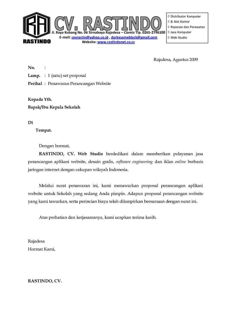 Contoh Surat Kerjasama Dengan Perusahaan