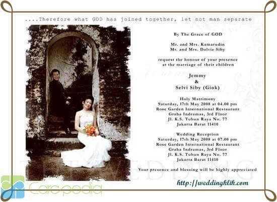 contoh undangan syukuran pernikahan kristen