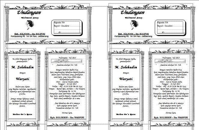 contoh undangan walimatul ursy pernikahan doc