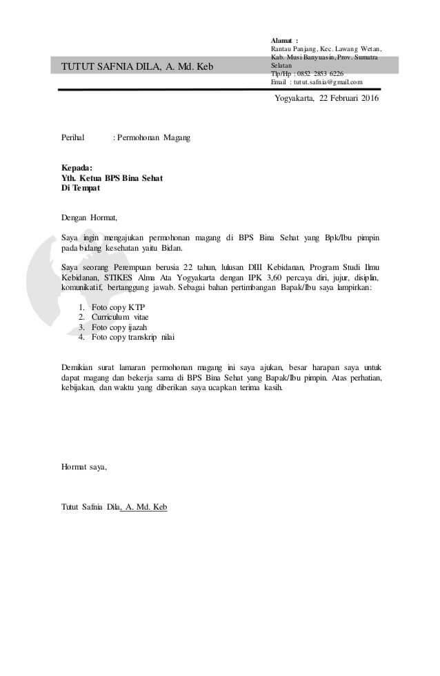 Contoh Surat Lamaran Kerja Yang Baik Dan Benar Dijamin Hrd Suka