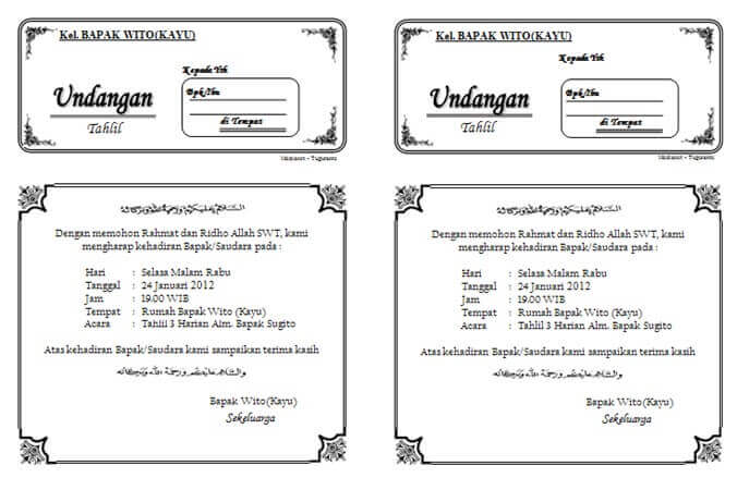 download undangan tahlil 1 lembar isi 2