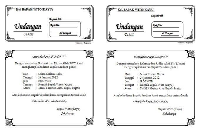 download undangan tahlil 1 lembar isi 2