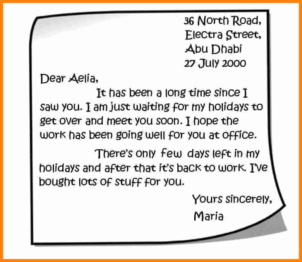 contoh personal letter untuk guru