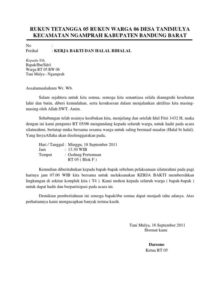 contoh surat pemberitahuan secara resmi contoh surat