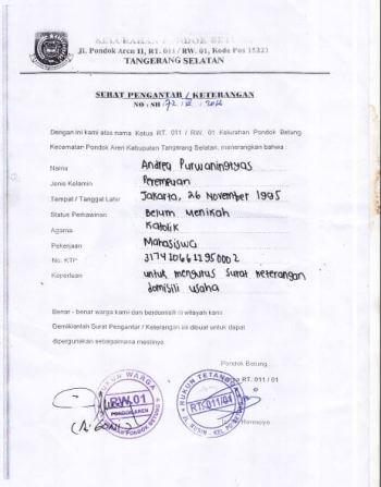 contoh surat keterangan usaha dari rt rw