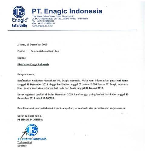 contoh surat pemberitahuan perusahaan kepada karyawan