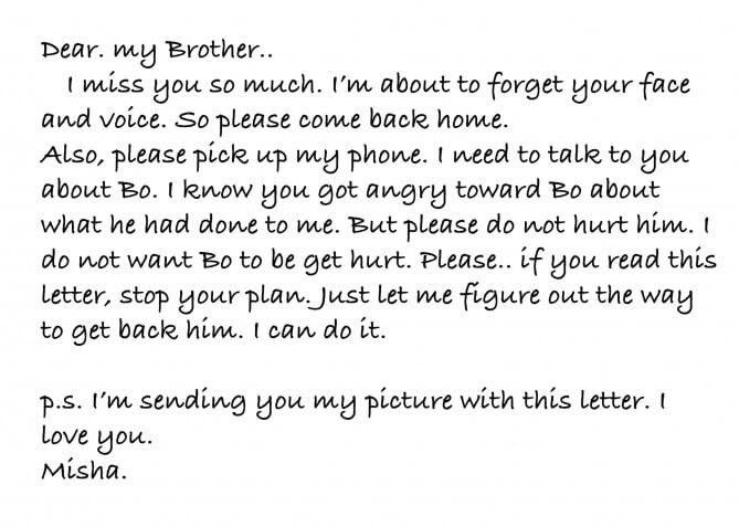 contoh surat pribadi untuk kakak dalam bahasa inggris