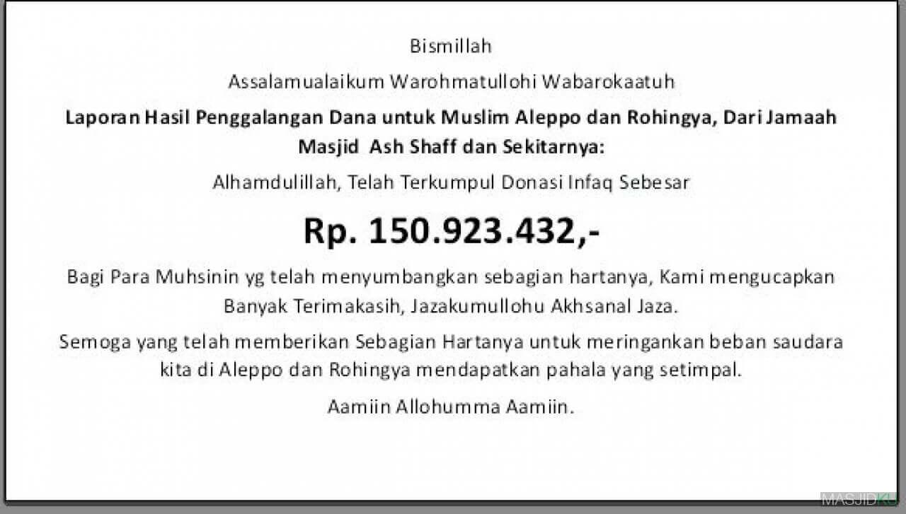 ucapan terima kasihatas bantuan dana masjid
