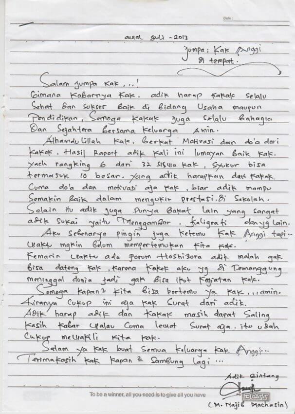 Contoh Surat Pribadi Untuk Kakak Contoh Surat