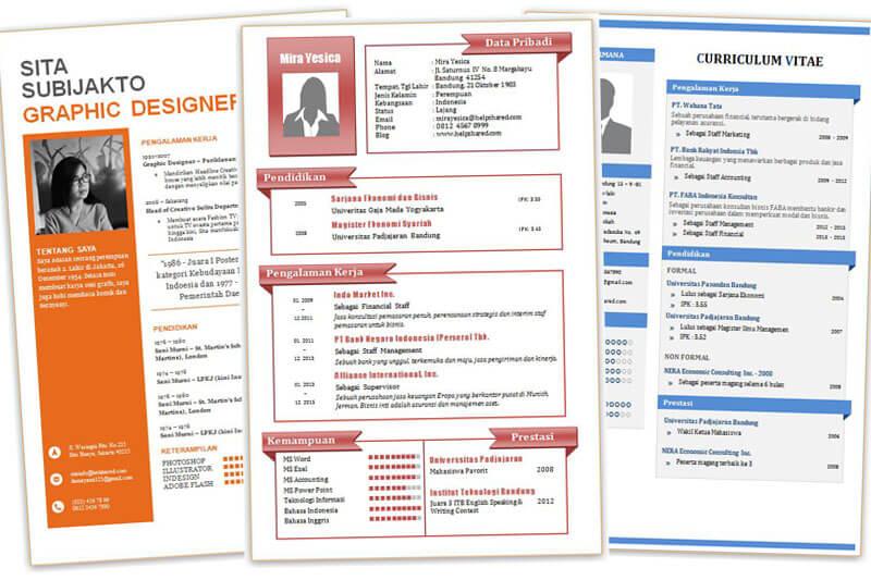 Contoh Cv Fresh Graduate Download Cv Menarik Doc Contoh Surat