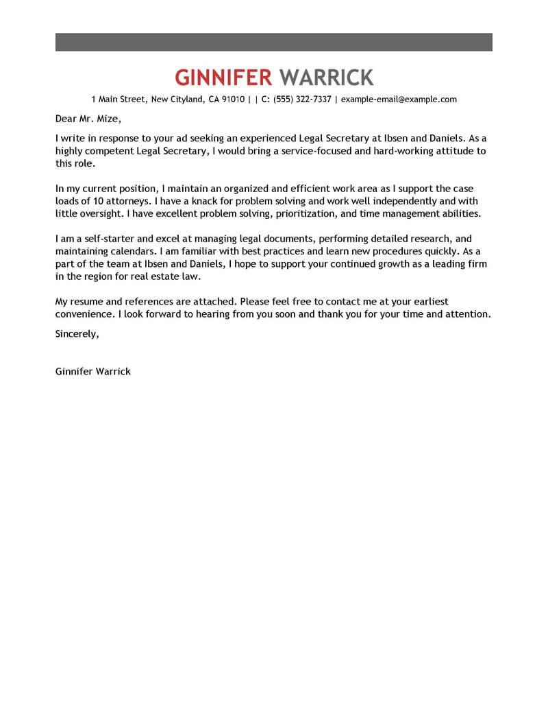 surat lamaran kerja sekretaris bahasa inggris