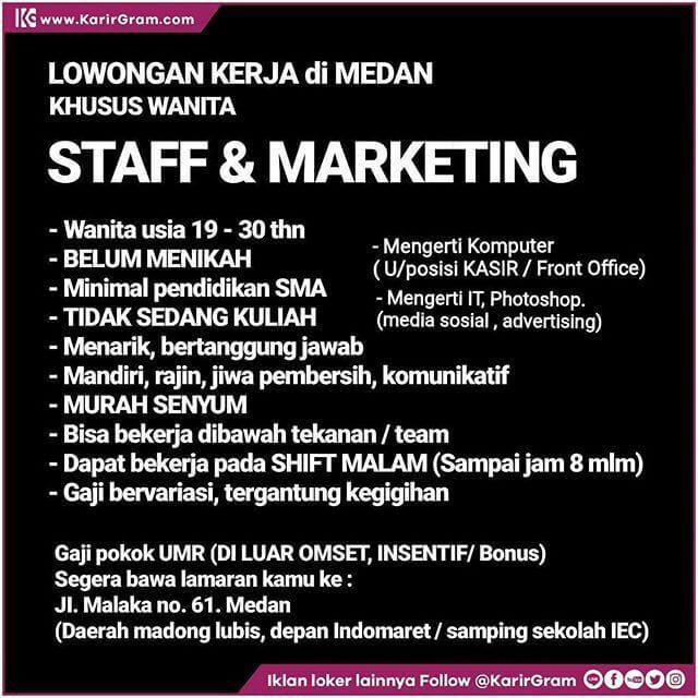 Contoh Iklan Lowongan Kerja Marketing