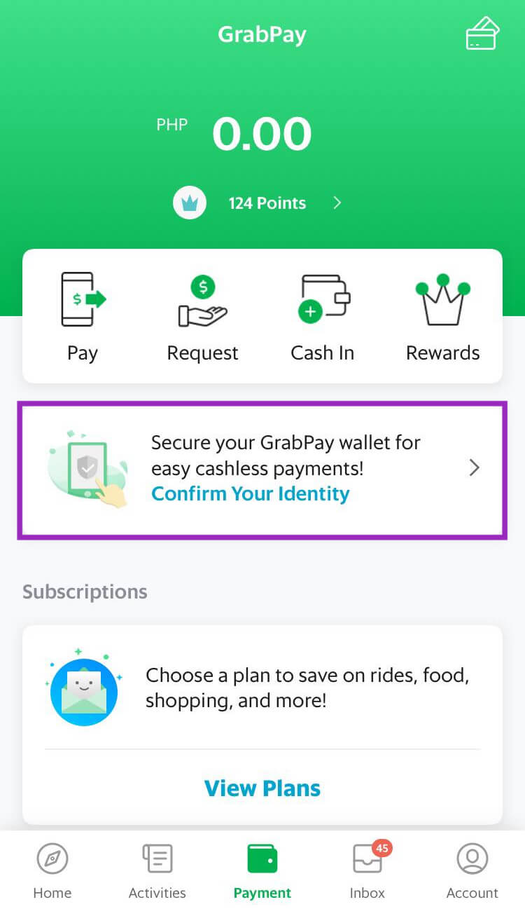 UI Aplikasi Grab