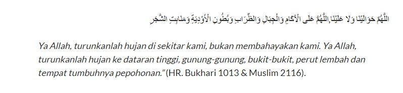 Doa Ketika Ada Petir Sesuai Sunnah