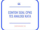 Contoh Soal CPNS Tes Analogi Kata
