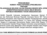 Formasi CPNS di Kementerian Badan Usaha Milik Negara (BUMN)