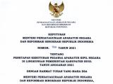 Penetapan Formasi Penerimaan Aparatur Sipil Negara (ASN) Kabupaten Buol