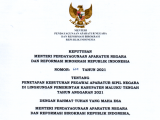Penetapan Formasi Penerimaan Aparatur Sipil Negara (ASN) Kabupaten Maluku Tengah